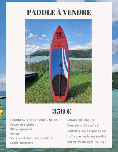 Paddle à vendre